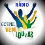 Logo da emissora Rádio gospel vem louvar