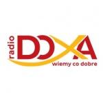 Logo da emissora Doxa 107.9 FM