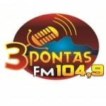 Logo da emissora Rádio 3 Pontas 104.9 FM