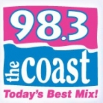 Logo da emissora WCXT 98.3 FM The Coast