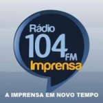 Logo da emissora Rádio Imprensa 104.9 FM