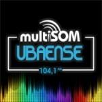 Logo da emissora Rádio Multisom Ubaense 104.1 FM