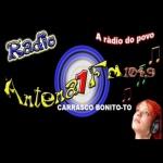 Logo da emissora Rádio Antena 1 Carrasco 104.9 FM