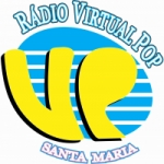 Logo da emissora Rádio Virtual Pop