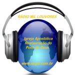 Logo da emissora Rádio Mil Louvores