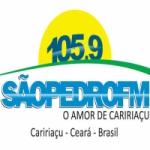 Logo da emissora Rádio São Pedro 105.9 FM