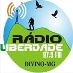 Logo da emissora Rádio Liberdade de Divino 87.9 FM