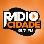 Logo da emissora Rádio Cidade Litoral 91.7 FM