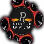 Logo da emissora Rádio Resgate 87.9 FM