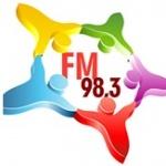 Logo da emissora Rádio Democrata 98.3 FM