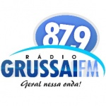 Logo da emissora Rádio Grussaí 87.9 FM