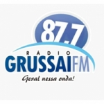 Logo da emissora Rádio Grussaí 87.7 FM