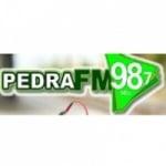 Logo da emissora Rádio Pedra 98.7 FM