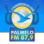 Logo da emissora Palmelo 87.9 FM