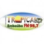 Logo da emissora Rádio Tropical Embaúba 98.7 FM