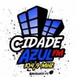 Logo da emissora Rádio Cidade Azul 104.9 FM
