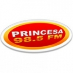 Logo da emissora Rádio Princesa 98.5 FM