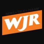Logo da emissora WJR 760 AM