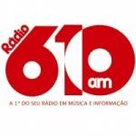 Logo da emissora Rádio 610 AM