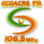 Logo da emissora Rádio Ecoacre 106.5 FM