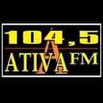 Logo da emissora Rádio Ativa 104.5 FM