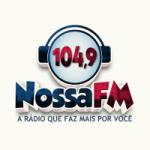 Logo da emissora Rádio Nossa FM 104.9