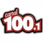 Logo da emissora Rádio Canal 100.1 FM