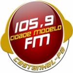 Logo da emissora Rádio Cidade Modelo 105.9 FM