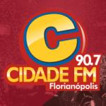 Logo da emissora Rádio Cidade 91.7 FM