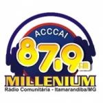 Logo da emissora Rádio Millenium 87.9 FM