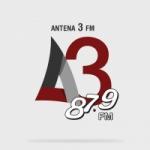 Logo da emissora Rádio Antena 3 87.9 FM