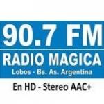 Logo da emissora Radio Mágica 90.7 FM