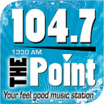 Logo da emissora Radio WHMG The Point 104.7 FM