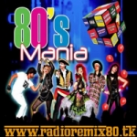 Logo da emissora Rádio Remix 80