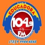 Logo da emissora Rádio Educadora 104.9 FM