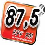 Logo da emissora Rádio RPF 87.5 FM
