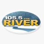 Logo da emissora KRBI 105.5 FM The River