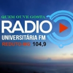 Logo da emissora Rádio Universitária 104.9 FM