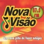 Logo da emissora Rádio Nova Visão 87.5 FM