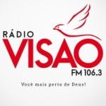 Logo da emissora Rádio Visão 106.3 FM
