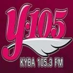 Logo da emissora KYBA 105.3 FM