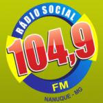 Logo da emissora Rádio Social 104.9 FM