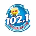 Logo da emissora Rádio Palmeira 102.1 FM