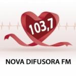 Logo da emissora Rádio Difusora 103.7 FM