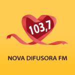 Logo da emissora Rádio Nova Difusora 103.7 FM