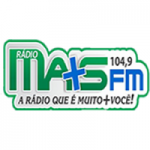 Logo da emissora Rádio Mais 104.9 FM