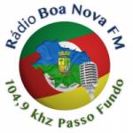Logo da emissora Rádio Boa Nova 104.9 FM