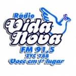 Logo da emissora Rádio Vida Nova 91.5 FM