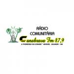 Logo da emissora Rádio Canabrava 87.9 FM