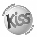 Logo da emissora Rádio Kiss FM Costa Doce